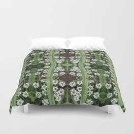 206 - Queen Anne's Lace abstract pattern Duvet Cover