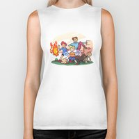 earthbound Biker Tanks featuring Mother 3 by GabrielCalderon