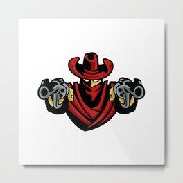 Outlaw Cowboy Metal Print