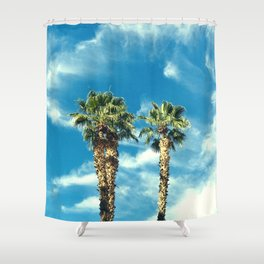 Palm Trees Floating Upward to the Heavens Shower Curtain