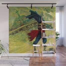 """""""The Flyin Dutchman"""" by Howad Pyle Wall Mural"""