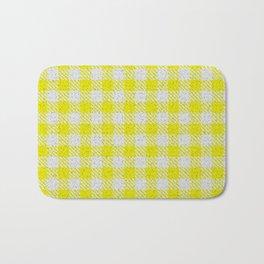 Yellow Buffalo Plaid Bath Mat