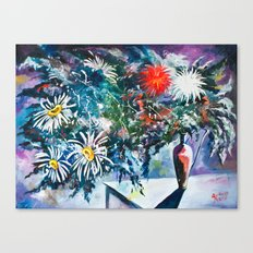 Flowered Expression Canvas Print