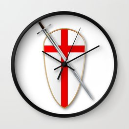 Crusaders Shield and Sword Wall Clock