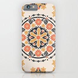 Wildflower Mandala Tapestry Pattern iPhone Case
