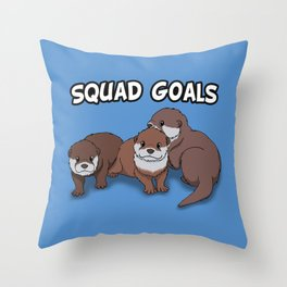 Otter Squad Goals Throw Pillow