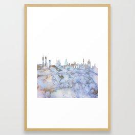 Madrid Skyline Spain Framed Art Print