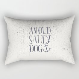 An Old Salty Dog Rectangular Pillow