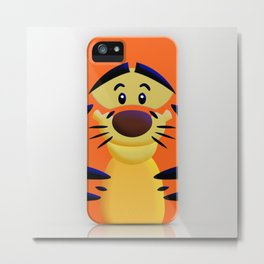 Cute Orange Cartoons Tiger Apple iPhone 4 4s 5 5s 5c, ipod, ipad, pillow case and tshirt Metal Print