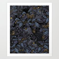 Fit In (moonlit blue) Art Print