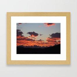 Aegean Sunset Framed Art Print