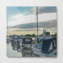 Thurne Dyke at sunset Metal Print