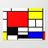 mondrian Canvas Prints featuring Mondrian by  Can Encin