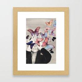 Rainbow Butterfly Art Framed Art Print