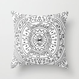 Infinite Hands of Time Throw Pillow