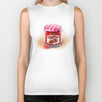 fig Biker Tanks featuring FIG JAM by Vin Zzep