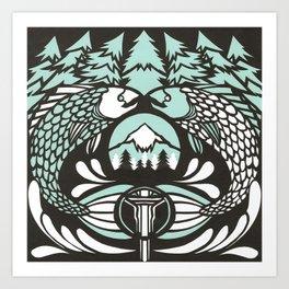 Astrology Northwest: Pisces Art Print