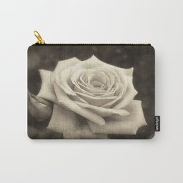Pink Roses in Anzures 4 Antiqued Carry-All Pouch