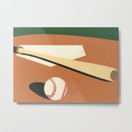 LA Baseball Field Metal Print