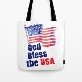 God Bless the USA Tote Bag