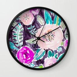 Gardens of Rockridge Floral Wall Clock