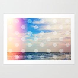 Dream Beach / Polka Dots Art Print