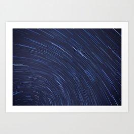 Star Trails Two Art Print