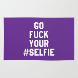 GO FUCK YOUR SELFIE (Purple) Rug