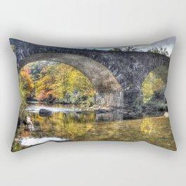 USA Babcock State Park HDRI Autumn Nature Bridges Parks river HDR bridge park Rivers Rectangular Pillow
