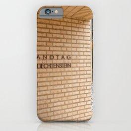 Liechtenstein Parlament iPhone Case
