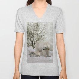 Awesome polar bear Unisex V-Neck
