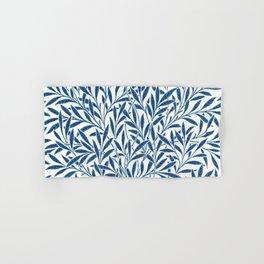 William Morris Navy Blue Botanical Pattern 9 Hand & Bath Towel