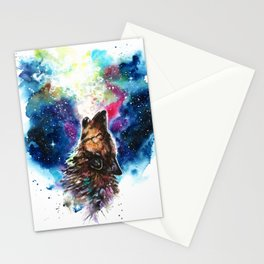 Moonlight singing Stationery Cards