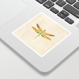 Antique Art Nouveau Dragonfly Sticker