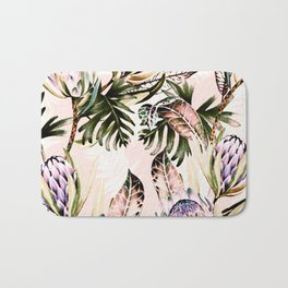 Flowering of proteas in nature Bath Mat