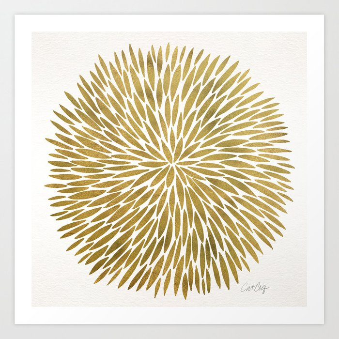 Golden Burst Art Print