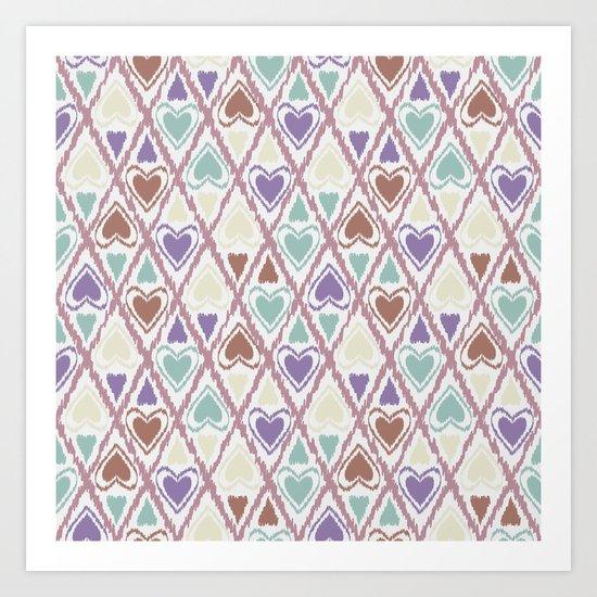 Favorite pattern . Brown and purple . Art Print