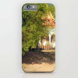 Buddhist Temple on the Mekong River Bank, Laos iPhone Case