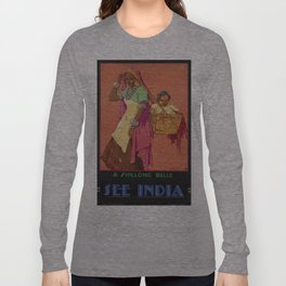 Vintage poster - India Long Sleeve T-shirt