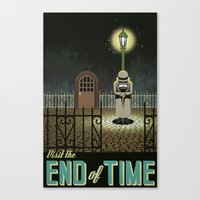 chrono trigger Canvas Prints featuring Chrono Trigger End of Time Travel Poster by The Retro Videogamers