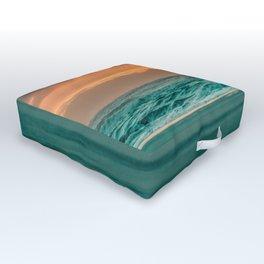 Turquoise Ocean Pink Sunset Outdoor Floor Cushion