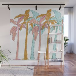 Pastel Palm Trees Wall Mural