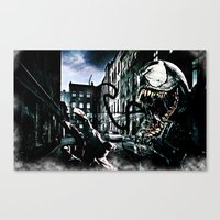 venom Canvas Prints featuring Venom  by D77 The DigArtisT