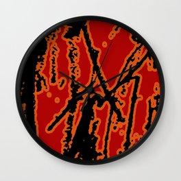 Vivid Abstract Grunge Texture Wall Clock