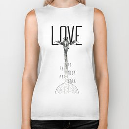 LOVE TO THE MOON AND BACK Biker Tank