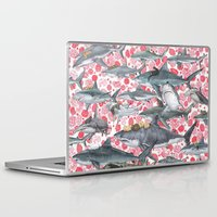 sharks Laptop & iPad Skins featuring sharks by alinamalina