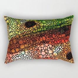 A New Direction - Stone Rock'd Art By Sharon Cummings Rectangular Pillow