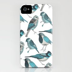 pale green birds Slim Case iPhone (4, 4s)