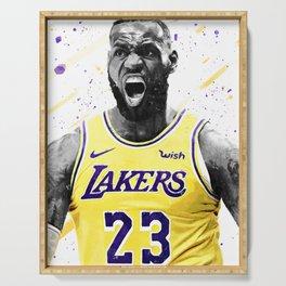 Lebron Basketball Print Basketball Wall Art Basketball Poster Basketball Wall Decor Poster Serving Tray