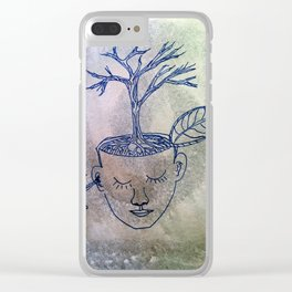 roots of thought Clear iPhone Case